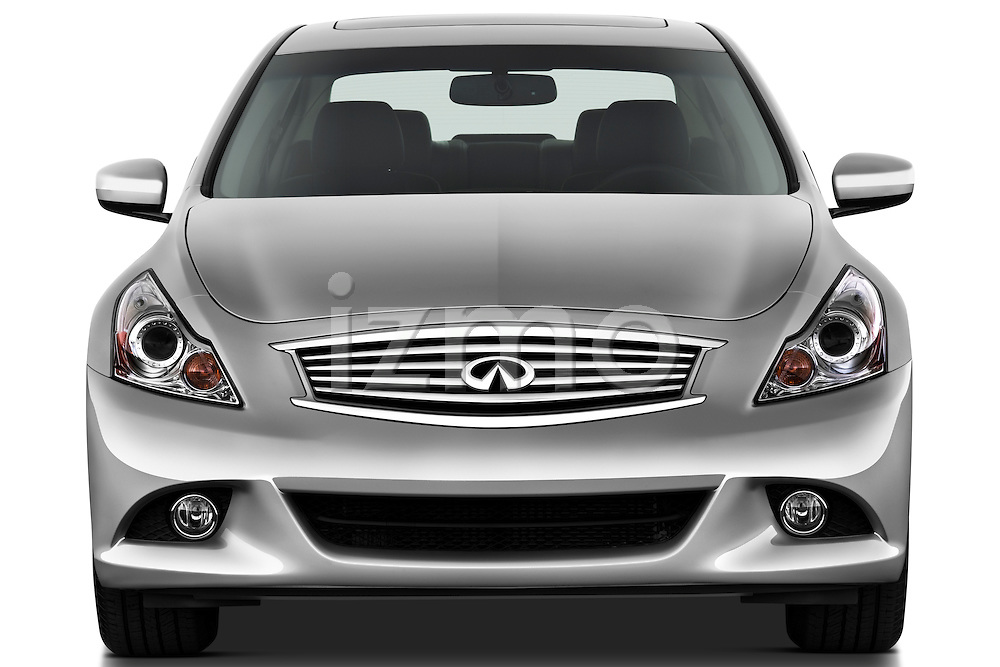 Straight front view of a 2011 Infiniti G25 Journey Sedan