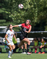 Allston, Massachusetts - September 16, 2018: NCAA Division I. Harvard University (white) defeated Northeastern University (red/black), 2-0, at Ohiri Field.