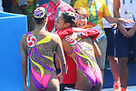 (L-R) Yukiko Inui &amp; Risako Mitsui,  Masayo Imura (JPN),<br /> AUGUST 14, 2016 - Synchronized Swimming : <br /> Duets Free Routine Preliminary <br /> at Maria Lenk Aquatic Centre <br /> during the Rio 2016 Olympic Games in Rio de Janeiro, Brazil. <br /> (Photo by Yohei Osada/AFLO SPORT)
