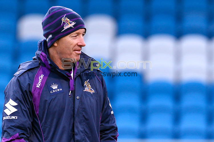 PICTURE BY ALEX WHITEHEAD/SWPIX.COM - Rugby League - World Club Challenge - The Shay Stadium, Halifax, England - 19/02/13 - Melbourne Storm training session - Head Coach Craig Bellamy.