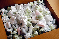 PACKING MATERIAL<br /> Styrofoam Packing &quot;Peanuts&quot;<br /> To produce polystyrene foam packaging, a blowing agent is used in the process, such as pentane or carbon dioxide which forms the air pockets.