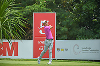 Cheng JIN (CHN) watches his tee shot on 5 during Rd 2 of the Asia-Pacific Amateur Championship, Sentosa Golf Club, Singapore. 10/5/2018.<br /> Picture: Golffile | Ken Murray<br /> <br /> <br /> All photo usage must carry mandatory copyright credit (© Golffile | Ken Murray)