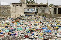 SENEGAL, Joal, plastic waste / Plastikmüll