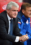 Stoke City Manager Mark Hughes before the start of the premier league match at the Britannia Stadium, Stoke. Picture date 19th August 2017. Picture credit should read: Robin Parker/Sportimage
