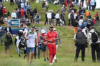 Victor Dubuisson (FRA) leads off from the 17th during Round Two of the 100th Open de France, played at Le Golf National, Guyancourt, Paris, France. 01/07/2016. Picture: David Lloyd | Golffile.<br /> <br /> All photos usage must carry mandatory copyright credit (&copy; Golffile | David Lloyd)