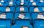 Video assistant referees (VAR) brochures are seen on the seats prior to the La Liga 2018-19 match between Real Madrid and Getafe CF at Estadio Santiago Bernabeu on August 19 2018 in Madrid, Spain. Photo by Diego Souto / Power Sport Images