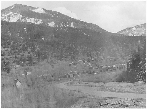 Panorama of Placerville from the wye in the 1920s.<br /> RGS  Placerville, CO  ca. 1920-1929