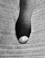 M00208M.tif   Eroded slot in sandstone. Paria Canyon, Arizona