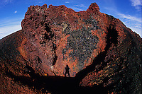 Oxidised rocks look like they are still hot. Piton de la Fournaise, La Réunion, 2008