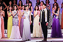 (Center) Miss Universe Japan 2016 winner Sari Nakazawa and Mister Japan 2016 winner Masaya Yamagishi pose during the Miss Universe Japan 2016 contest at Hotel Chinzanso Tokyo on March 1, 2016, Tokyo, Japan. The 23 year-old from Shiga Prefecture captured the crown and will represent Japan at the next Miss Universe international competition. Masaya Yamagishi from Kanagawa was elected Mister Japan 2016, and will compete in the next edition of Mister International. (Photo by Rodrigo Reyes Marin/AFLO)