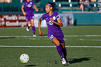 Rochester, NY - Saturday June 11, 2016: Orlando Pride defender Kristen Edmonds (12) during a regular season National Women's Soccer League (NWSL) match between the Western New York Flash and the Orlando Pride at Rochester Rhinos Stadium.