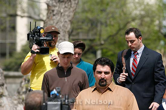 "San Angelo -  A hearing at the 51st District Court Wednesday, April 9, 2008, where a judge ruled three members of the FLDS polygamous sect have the legal right to challenge the massive search underway on their property near Eldorado, the YFZ ""Yearning for Zion"" Ranch.; 04.09.2008"