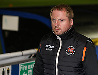 Blackpool's first team coach Ian Dawes <br /> <br /> Photographer Andrew Kearns/CameraSport<br /> <br /> The Emirates FA Cup Second Round - Solihull Moors v Blackpool - Friday 30th November 2018 - Damson Park - Solihull<br />  <br /> World Copyright © 2018 CameraSport. All rights reserved. 43 Linden Ave. Countesthorpe. Leicester. England. LE8 5PG - Tel: +44 (0) 116 277 4147 - admin@camerasport.com - www.camerasport.com
