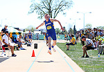 FARGO, ND - MAY 13: Bryant Courter from South Dakota State University leaps during the triple jump prelims Saturday at the 2017 Summit League Outdoor Track Championship at the Ellig Sports Complex in Fargo, ND. (Photo by Dave Eggen/Inertia)