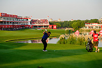 Patrick Reed (USA) on the 18th fairway during the 3rd round at the WGC HSBC Champions 2018, Sheshan Golf CLub, Shanghai, China. 27/10/2018.<br /> Picture Fran Caffrey / Golffile.ie<br /> <br /> All photo usage must carry mandatory copyright credit (&copy; Golffile | Fran Caffrey)
