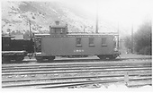Long caboose #0505.<br /> D&amp;RGW  Durango, CO  Taken by Rogers, Donald E. A. - 1935