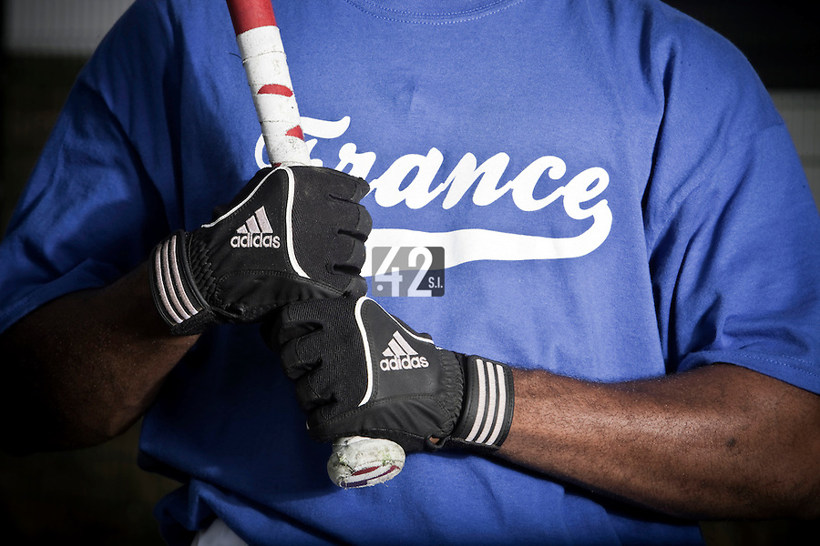 21 july 2010: close view of Felix Brown of Team France during a practice prior to the 2010 European Championship Seniors, in Neuenburg, Germany.