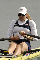 Munich, GERMANY, 2006, FISA, Rowing, World Cup, USA W1X Michelle Guerette,  held on the Olympic Regatta Course, Munich, Thurs. 25.05.2006. © Peter Spurrier/Intersport-images.com,  / Mobile +44 [0] 7973 819 551 / email images@intersport-images.com.[Mandatory Credit, Peter Spurier/ Intersport Images] Rowing Course, Olympic Regatta Rowing Course, Munich, GERMANY