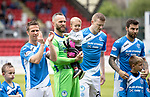 St Johnstone v RangersÖ21.05.17     SPFL    McDiarmid Park<br /> Alan Mannus pictured with his son prior to kick off<br /> Picture by Graeme Hart.<br /> Copyright Perthshire Picture Agency<br /> Tel: 01738 623350  Mobile: 07990 594431