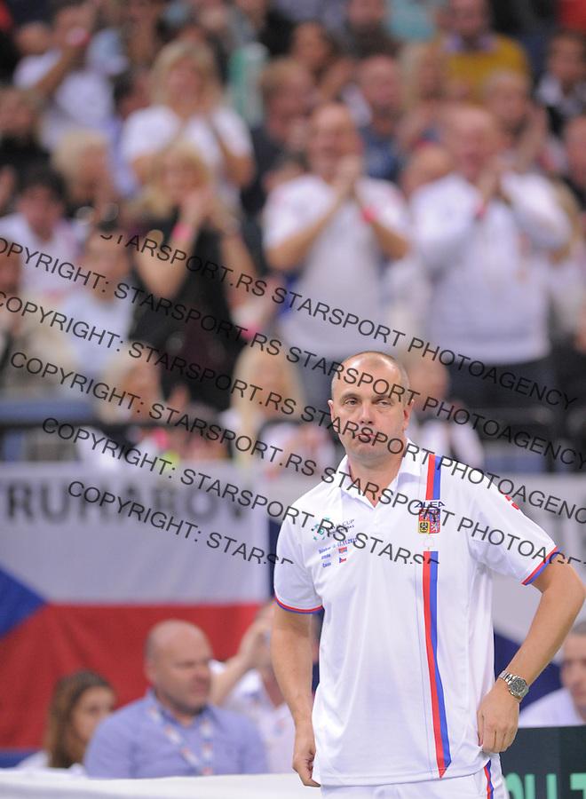 Tennis Tenis<br /> Davis Cup Final 2013<br /> Serbia v Czech Republic<br /> Novak Djokovic v Tomas Berdych<br /> Team captain Vladimir Safarik<br /> Beograd, 17.11.2013.<br /> foto: Srdjan Stevanovic/Starsportphoto &copy;