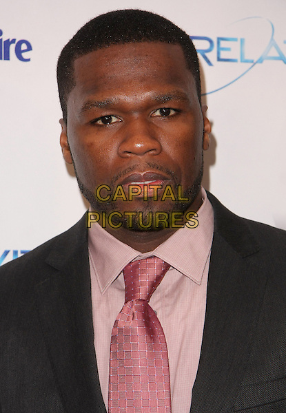 CURTIS JACKSON aka 50 Cent.Relativity Weinstein Company 68th Annual Golden Globe Awards After Party Presented by Marie Claire held at the Beverly Hilton, Beverly Hills, California, USA..January 16th, 2011.headshot portrait beard pink grey gray  stubble facial hair  .CAP/ADM/TB.©Tommaso Boddi/AdMedia/Capital Pictures.