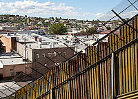 A view looking north into Nogales, Arizona, from Nogales, Sonora Mexico. (Pat Shannahan/ The Arizona Republic)