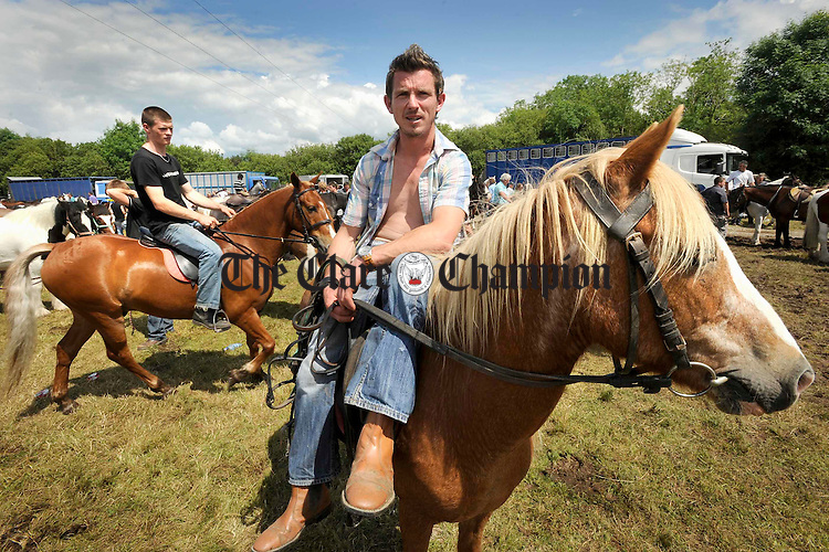Rory Daly, son of matchmaker Willie Daly of Ennistymon at Spancilhill Fair. Photograph by John Kelly.