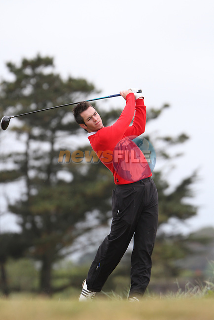 Aaron Kearney (Castlerock) on the 11th Tee, Day 2 at the East of Ireland Amateur Open Championship 2011 in Co.Louth Golf Club....(Photo credit should read Jenny Matthews www.newsfile.ie)....This Picture has been sent you under the conditions enclosed by:.Newsfile Ltd..The Studio,.Millmount Abbey,.Drogheda,.Co Meath..Ireland..Tel: +353(0)41-9871240.Fax: +353(0)41-9871260.GSM: +353(0)86-2500958.email: pictures@newsfile.ie.www.newsfile.ie.