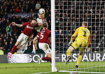 Jack Marriott of Derby County heads their third goal past David Cornell of Northampton during the FA Cup match at the Pride Park Stadium, Derby. Picture date: 4th February 2020. Picture credit should read: Darren Staples/Sportimage