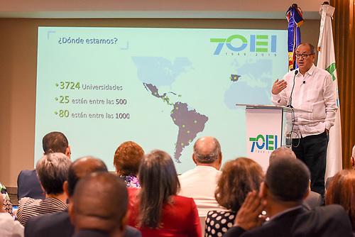 """Otto Granados, presidente del Consejo Asesor de la OEI y ex secretario de Educación Pública de México en la presentación del informe """"Diagnóstico de la Educación Superior en Iberoamérica 2019""""."""