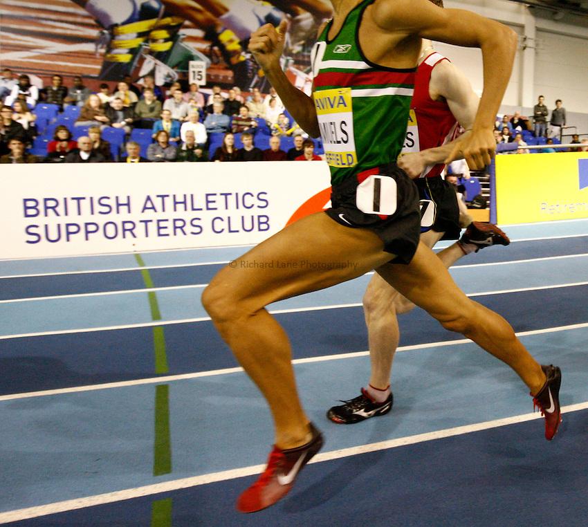 Photo: Richard Lane/Richard Lane Photography. Aviva World Trials & UK Championships. 13/02/2010. Men's 1500m heat.
