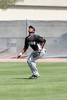 Orlando Sandoval, Colorado Rockies 2010 minor league spring training..Photo by:  Bill Mitchell/Four Seam Images.