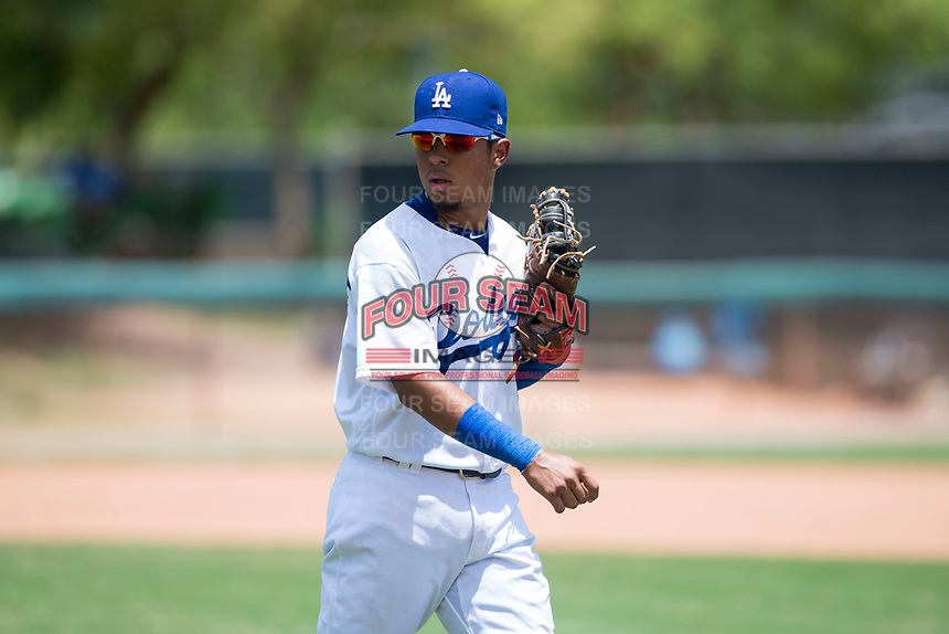 AZL Dodgers first baseman Kenneth Betancourt (3) during an Arizona League game against the AZL Padres 2 at Camelback Ranch on July 4, 2018 in Glendale, Arizona. The AZL Dodgers defeated the AZL Padres 2 9-8. (Zachary Lucy/Four Seam Images)