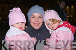 Nell Reidy, Stephanie Corkery and Maggie Reidy enjoying the switching on of the Christmas lights on the Memory Tree in Killorglin on Saturday night in aid of the Irish Pilgrimage Trust