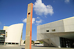 Israel, the new wing of the Tel Aviv Museum of Art (right) and the New Cameri Theatre