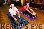 Eric Murphy at 79 years of age hosts a fitness class in Waterville with benefits for all but especially Michael Golden who suffered with an autoimmune disease is now off his injections and has stunned his doctors with his improvement.