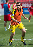 18 May 2013: Columbus Crew midfielder/forward Eddie Gaven #12 warm-ups during an MLS game between the Columbus Crew and Toronto FC at BMO Field in Toronto, Ontario Canada..The Columbus Crew won 1-0...