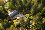 Aerial View of Portland Japanese Garden, Oregon