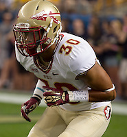 Florida State defensive back Colin Blake. Florida State defeated Pitt 41-13 at Heinz Field on September 2, 2013.