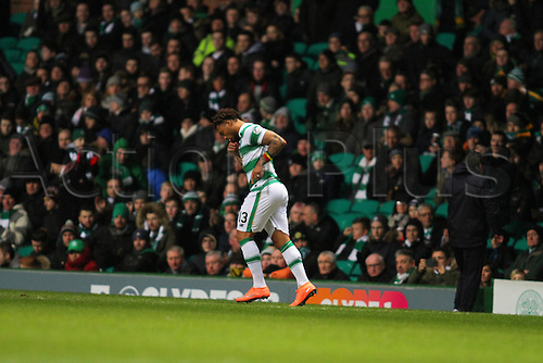 02.03.2016. Celtic Park, Glasgow, Scotland. Scottish Premier League. Celtic versus Dundee. Colin Kazim-Richards enters the game as a substitute