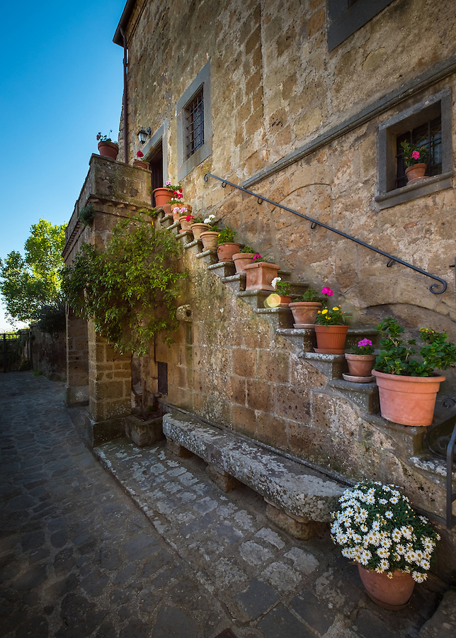 CIVITA DI BAGNOREGIO ITALY - CIRCA MAY 2015: Street in Civita di Bagnoregio.