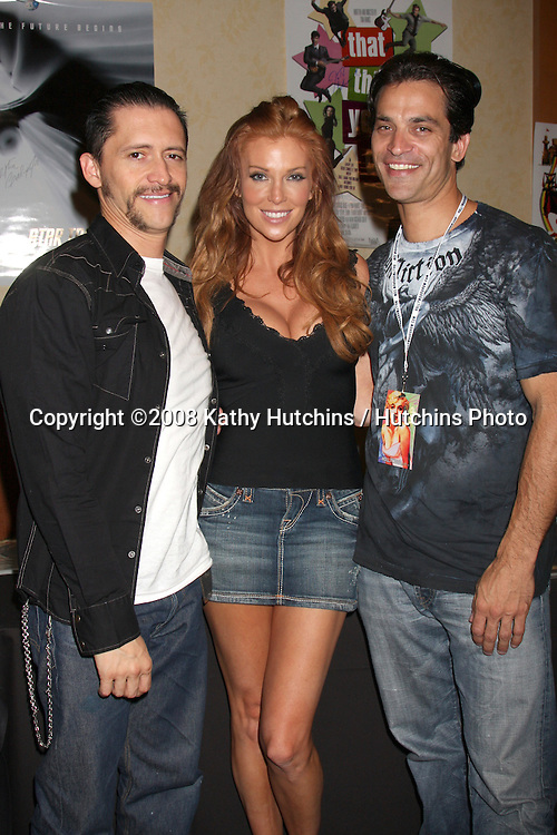 Clifton Collins Jr, Anjelica Bridges, & Johnathon Schaech at the Hollywood Collector's Show in Burbank,  CA   on July 18, 2009 .©2008 Kathy Hutchins / Hutchins Photo..