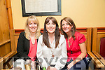 At a Tralee Credit Union  Staff Social in Stoker Lodge on Saturday were l-r  Marcella Herlihy, Suzanne Donovan and Aishling O'Connor