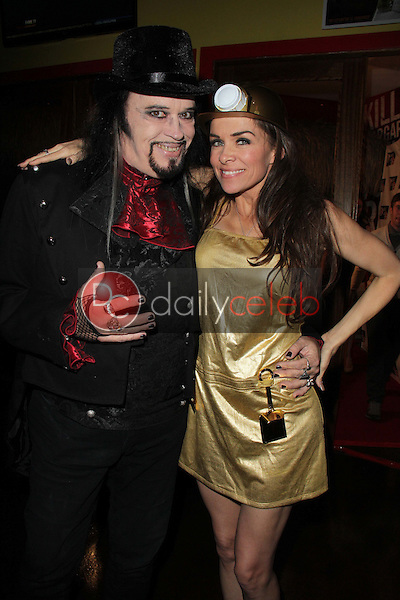 Cleeve Hall, Alicia Arden<br /> at the Monster Man Costume Ball, Cabo Wabo, Hollywood, CA 10-16-13<br /> David Edwards/Dailyceleb.com 818-249-4998