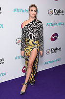 LONDON, UK. June 28, 2019: Eugenie Bouchard arriving for the WTA Summer Party 2019 at the Jumeirah Carlton Tower Hotel, London.<br /> Picture: Steve Vas/Featureflash