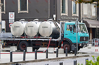 lorry with tanks to transport wine av. diogo leite vila nova de gaia porto portugal