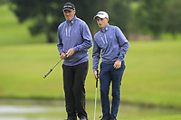 Eddie McCormack & Ronan Mullarney (Galway) on the 18th green during the Final of the AIG Barton Shield in the AIG Cups & Shields Connacht Finals 2019 in Westport Golf Club, Westport, Co. Mayo on Saturday 10th August 2019.<br /> <br /> Picture:  Thos Caffrey / www.golffile.ie<br /> <br /> All photos usage must carry mandatory copyright credit (© Golffile | Thos Caffrey)