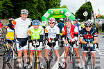 Fergal Pathwell, Pascal Sheehy, Pat O'Sullivan, Davie Callaghan and Pat Leahy Ardfert at the start of the Ring of Kerry cycle in Killarney on Saturday morning