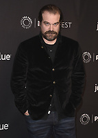 "HOLLYWOOD, CA - MARCH 25:  David Harbour at PaleyFest 2018 - ""Stranger Things"" at the Dolby Theatre on March 25, 2018 in Hollywood, California. (Photo by Scott KirklandPictureGroup)"