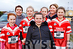 Ready for action at the first cross country competition held by Cumann na mBunscol Chairrai in the Caherslee GAA pitch in Tralee on Thursday afternoon last from Dingle, <br /> l-r, Laura Griffin, Aoife White, Cliona Walker, Anna Brosnan, Ella Sheehy, Laura Walker and Helen Sheehy all from West Kerry.
